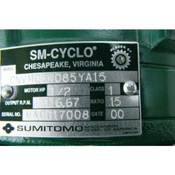 Sumitomo SM-Cyclo 3ph induction motor  1/2HP 230/460V 21A 1740RPM CNVM054085YA1