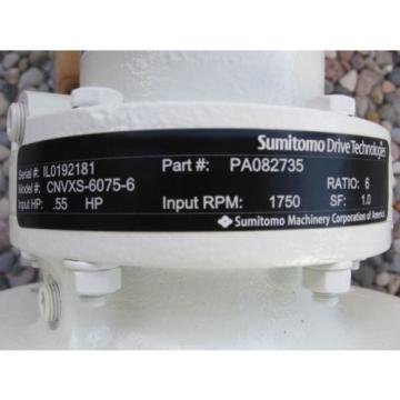 SUMITOMO CYCLO 6000 PLANETARY GEARBOX CNVXS-6075-6