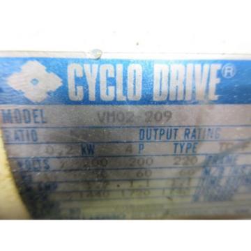 SUMITOMO CYCLO DRIVE VM02-209 CNC WITH LOWER GEAR