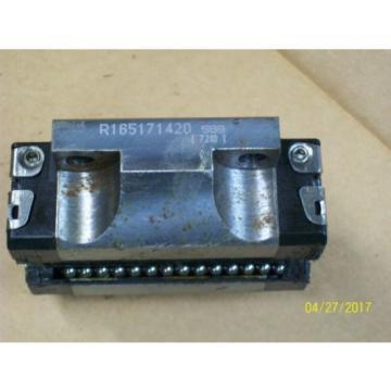 1 SET 4 REXROTH LINEAR BEARING ROLLER BLOCK amp; 2 GUIDE RAIL , R165171420