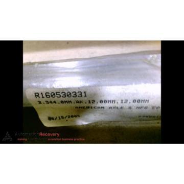 REXROTH R160530331 LINEAR GUIDE RAIL 2,344MM X 12MM X 12MM, Origin #139026