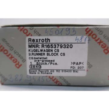 Origin REXROTH R165379320 RUNNER BLOCK SLIDE RAIL LINEAR BEARING D552172