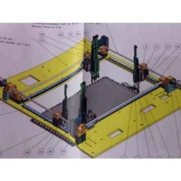2 x Schraubstation Rexroth mit je 6x Schraubspindel und vierseiten Linearführung