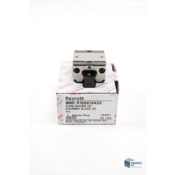 Rexroth R166619420 Kugelwagen Führungswagen Rollenschienenführung Linear Bearing