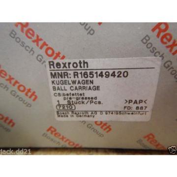 Origin Bosch Rexroth Runner Block Ball Carriage Linear Bearing R165149420 Origin