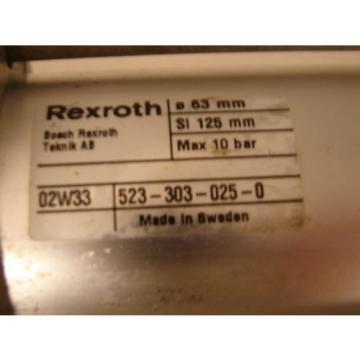 BOSCH/REXROTH 523-303-025-0 PNEUMATIC LINEAR ACTUATOR MAX 10 BAR XLNT