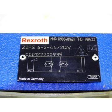 Origin Rexroth Valve ventil Z2FS 6-2-44/2QV  /  R900481624   /   Invoice
