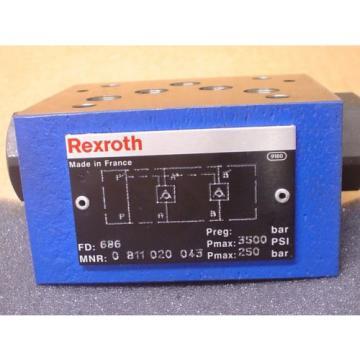 Rexroth 0 811 020 043 3500PSI Max Check Valve