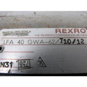 Bosch Rexroth LFA-40-GWA-62/T10/12 2-Way Cartridge Valve