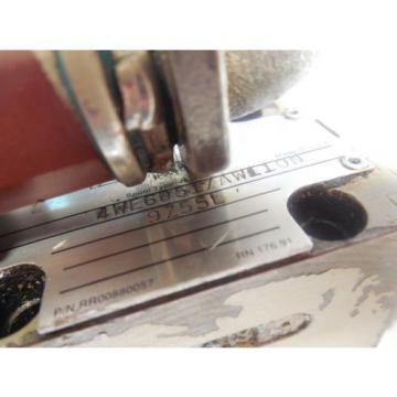 REXROTH SOLENOID VALVE 4WE6D517AW110N 9Z55L w/ WU35-4-A 304