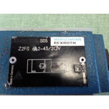 REXROTH HYDRAULIC CHECK VALVE  Z2FS 6-A2-43/2QV