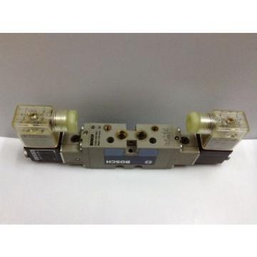 BOSCH 0820 022 502 Double Solenoid Pneumatic Valve 5 port-2 posn 1/8 in 24 V DC