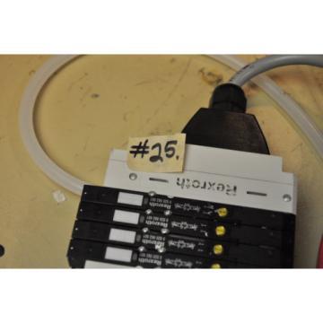 4 REXROTH PNEUMATIC VALVE CONTROL 0820062601 BOSCH SOLENOID