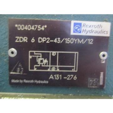 REXROTH SERVO VALVE W/ PRESSURE REGULATOR VALVE 4WREE6E16-20/G24K31/A1V