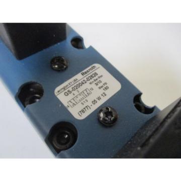 REXROTH GS-020042-02626 HYDRAULIC VALVE Origin IN BOX