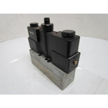 Rexroth Ceram GT-010062-00909 Double Solenoid Valve 4-Pin 24VDC ISO Sz 1