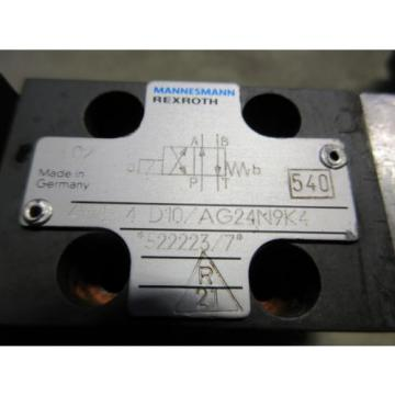 REXROTH SOLENOID VALVE 4WE 4 D10/AG24N9K4  522223/7 4WE4D10/AG24N9K4