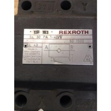 Rexroth Check Valve 1 1/4#034; Blue SL 30 PA 1-42V