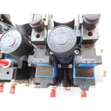 Rexroth Pneumatic Valve terminal mit 7 x rexroth 576351 + rexroth 376382 top 1a