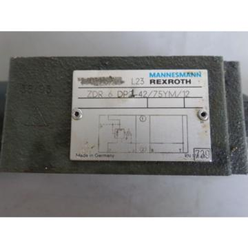 REXROTH SOLENOID REDUCING VALVE ZDR 6 DP21-42/75YM/12 LOT# 1363M James