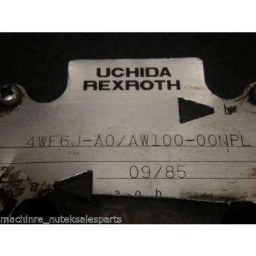 Uchida Rexroth Directional Control Valve 4WE6J-A0/AW100-00NPL
