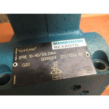 REXROTH SOLENOID VALVE 2FRE 10-42/50L4M 00415446 2FRE104250L4M