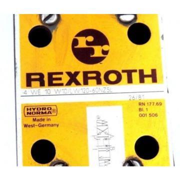 REXROTH 4 WE 10 W10/LW120-60NZ5L VALVE 4WE10W10LW12060NZ5L
