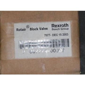 REXROTH ROTAIR BLOCK VALVE P-067774-00003  SEALED