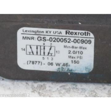 Rexroth GS-020052-00909 24VDC Solenoid Valve origin no Box