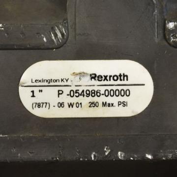 Rexroth P-054986-00000 1#034; Pneumatic Floreg Valve 7877- 06 W01, 250 Max PSI