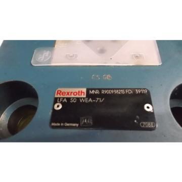 REXROTH VALVE LFA 50 WEA-71/ USED