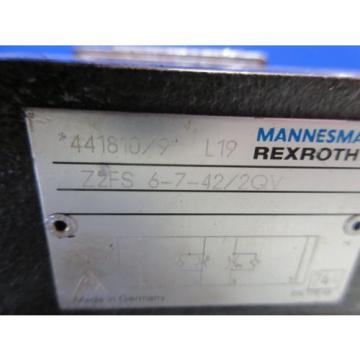 REXROTH VALVE Z2FS 6-7-42/2QV 441810/9 L19 Z2FS6-7-42/2QV