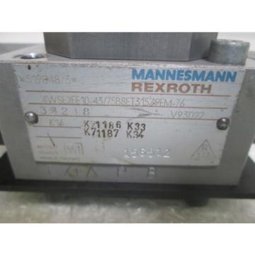 REXROTH  4WSE2EE 10-43/75B8ET31579EM-76 SERVO VALVE USED