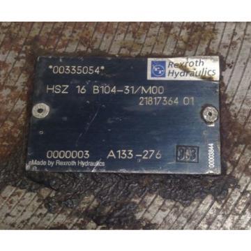 REXROTH HYDRAULIC VALVE 00335054 / HSZ 16 B104-31/M00