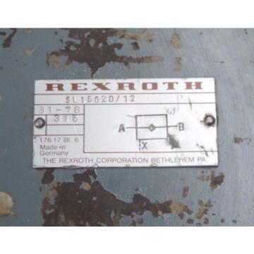 REXROTH SL15G20/12 HYDRAULIC CHECK VALVE 31-78 SL15G20 SL15G2012