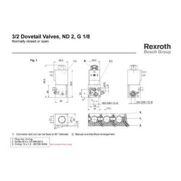 Rexroth Dovetail Valve - Part 5774650220  Set of 2