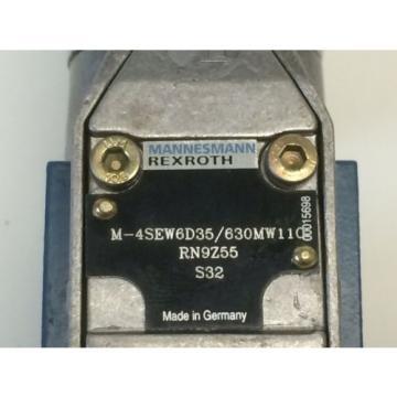 Origin MANNESMANN REXROTH HYDRAULIC SOLENOID VALVE M-4SEW6D35/630MW110 RN9Z55 S32