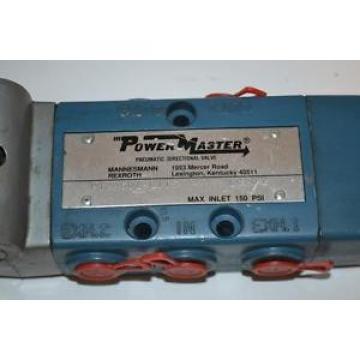 ONE USED REXROTH POWERMASTER PNEUMATIC DIRECTIONAL VALVE PT24501-0115