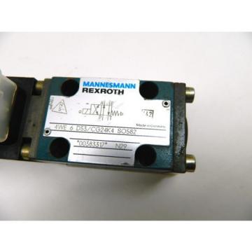 Mannesmann Rexroth 4WE 6 D53 CG24K4 SO582 Directional Control Valve 24Vdc Coil