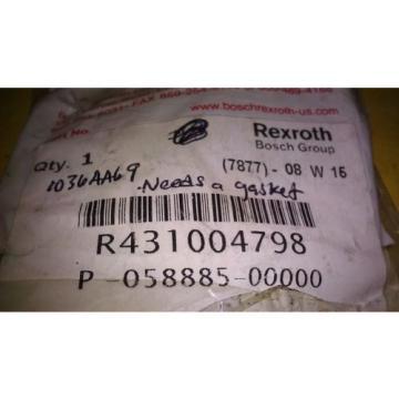 GENUINE REXROTH / BOSCH VALVE REPAIR KIT R431004798 / P-058885-00000