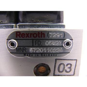 Origin Rexroth 7291 05W23 5720110220 Quad Valve Unit with Manifold SB2