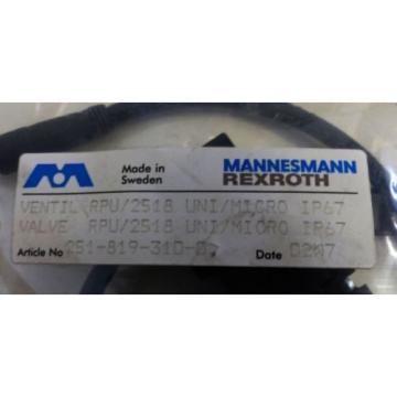 Mannesmann Rexroth RPU/2518 UNI/MICRO 251-819-310-0 Valve -unused/OVP-