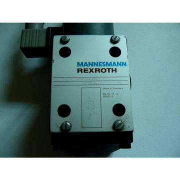Mannesmann Rexroth 3WE10A30/CG24N9Z4 Solenoid Operation Valve Wired