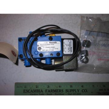 REXROTH SOLENOID VALVE P-069883-00001---110 VAC 50/60 HZ---NSN 4810-01-235-3605
