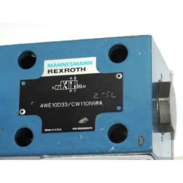 Origin MANNESMANN REXROTH 4WE10D33/CW11ON9K4 VALVE W/ 019816 L 4200 COIL, 057453