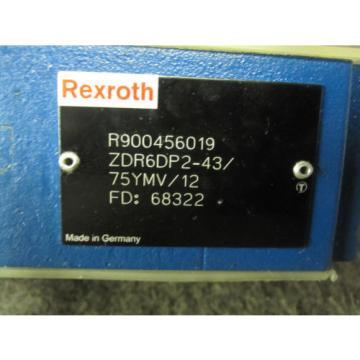 Origin REXROTH PRESSURE REDUCING VALVE # ZDR6DP2-43/75YMV/12 # R900456019