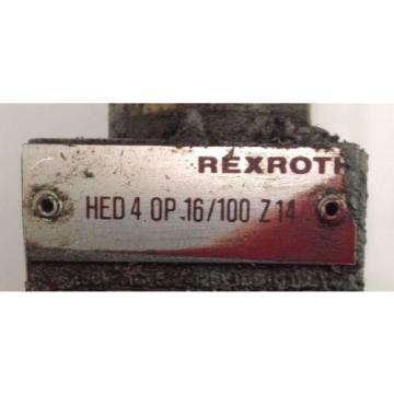 REXROTH SOLENOID VALVE HED 4 OP 16/100 Z14