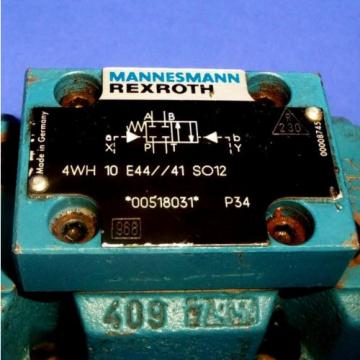MANNESMANN REXROTH 2502VOLTS 5AMP HYDRANORMA VALVE 4WH 10 E44//41 SO12