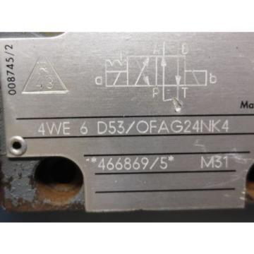 REXROTH  VALVE 4WE 6 D53/OFAG24NK4 4WE6D53/OFAG24NK4 4WE 6 D53/0FAG24NK4