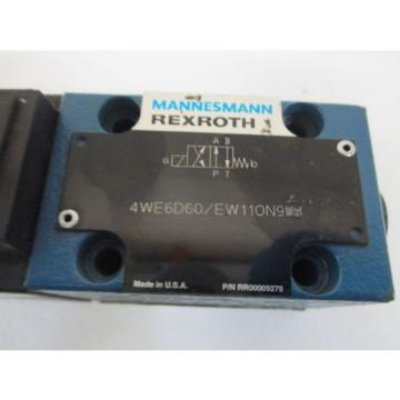 REXROTH 4WE6D60/EW110N9 SOLENOID VALVE Origin  OUT OF A BOX